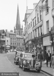 Hereford, The Square And Spire c.1950
