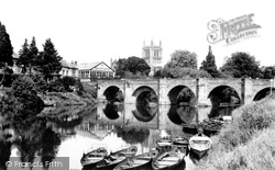 Hereford, Wye Bridge And Cathedral 1938