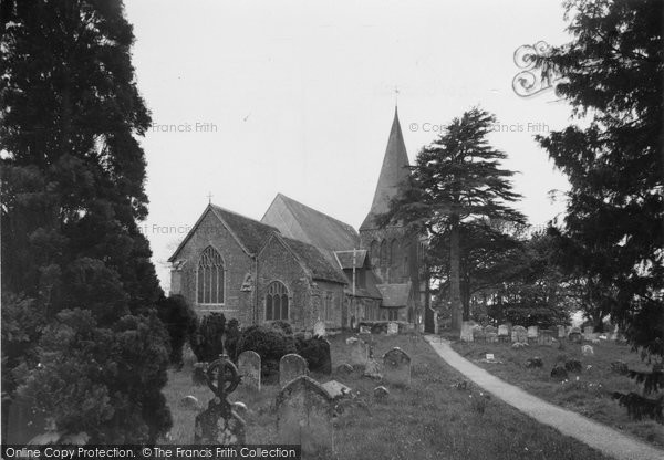 Herstmonceux, the Church c1950