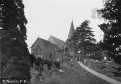 Herstmonceux, All Saints Parish Church c.1955
