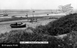Heswall, The Beach At Low Tide c.1955