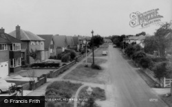 Heswall, Whitehouse Lane, Heswall Hills c.1965