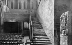 Abbey, Night Stair And Roman Soldier's Memorial c.1935, Hexham