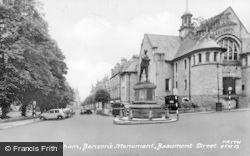 Hexham, Benson's Monument, Beaumont Street c.1950