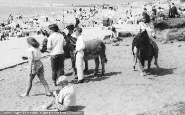 Photo of Heysham, Donkey Rides, Half Moon Bay c.1965