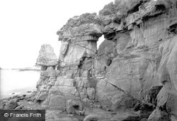 Heysham, Fairy Chapel Rocks 1912