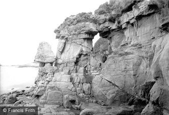 Heysham, Fairy Chapel Rocks 1912