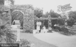 Heysham, Heysham Head, A Stroll In The Gardens c.1955