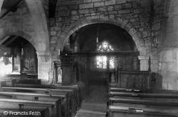 Heysham, St Peter's Church Interior 1888