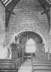 Heysham, St Peter's Church Interior 1895