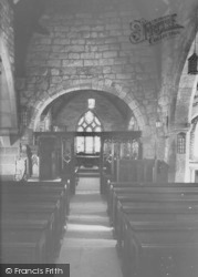 Heysham, St Peter's Church Interior c.1955