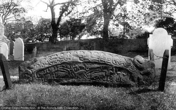 Photo of Heysham, St Peter's Churchyard, The Hog Back Stone 1912