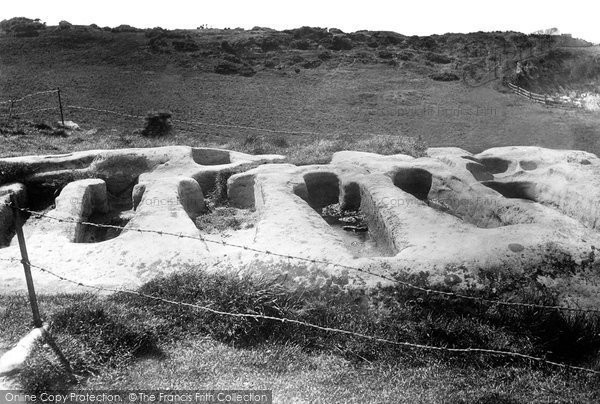 Photo of Heysham, Stone Coffins 1891