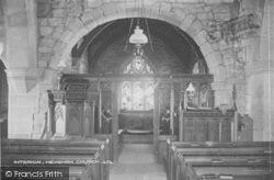 Heysham, The Church Interior c.1915