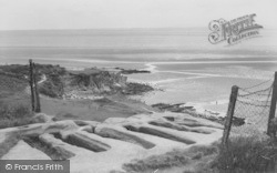Heysham, The Stone Coffins And Beach c.1960