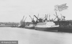 Heysham, Vessels At The Docks c.1960