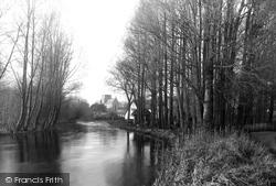 River Wylye And Church c.1955, Heytesbury