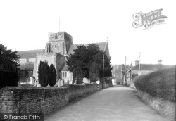 Station Road And Church Of St Peter And St Paul  c.1955, Heytesbury