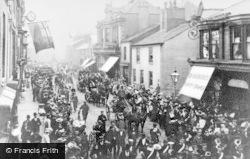 Heywood, Cycle Parade, Market Street c.1905