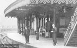 Heywood, The Station Platform c.1910