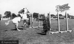 Hickstead, Horse Jumping At All England Show Jumping Course c.1960