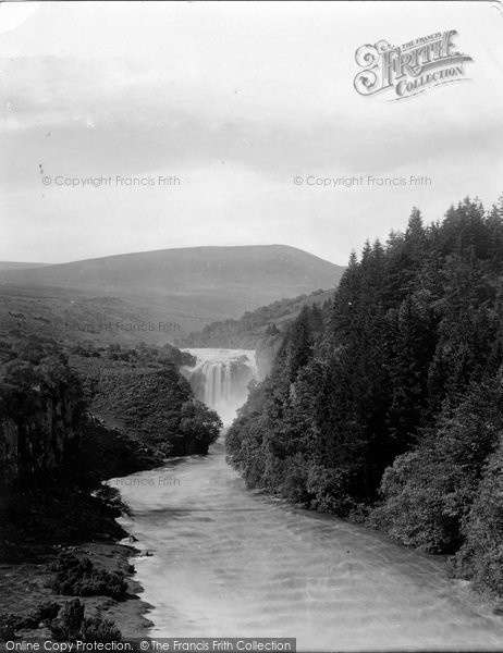 Photo of High Force, Waterfall In Flood 1892