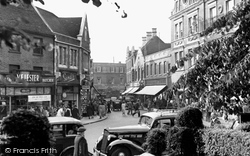 High Wycombe, Church Street From The Churchyard c.1955