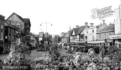 High Wycombe, Frogmoor Looking North c.1955