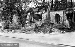 St John's Hospital Ruins c.1965, High Wycombe