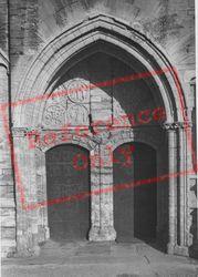 St Mary's Church, Doorway c.1955, Higham Ferrers
