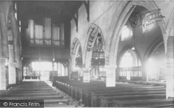 St Mary's Church Interior c.1955, Higham Ferrers