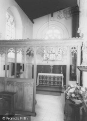 St Mary's Church, Side Chapel c.1955, Higham Ferrers