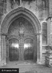 St Mary's Church, West Door c.1955, Higham Ferrers