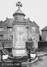 Highbridge, the War Memorial c1960