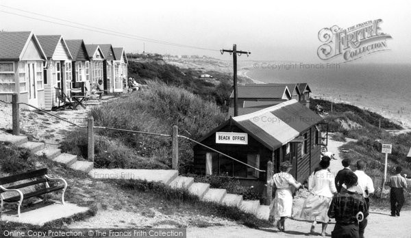 Highcliffe, Beach Huts c.1960