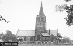 Higher Walton, Church Of St John The Evangelist c.1955