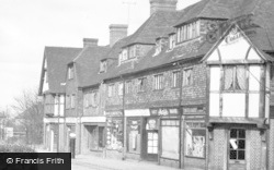 The Shops, Station Approach c.1955, Hinchley Wood