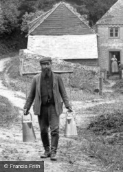 George Mayes, Milkman And Last Broom-Squire 1907, Hindhead