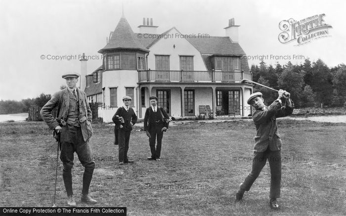 Hindhead, Golf House And George Pownall Teeing Off 1907