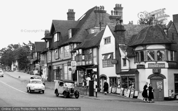 Hindhead, the Corner Shop c1965