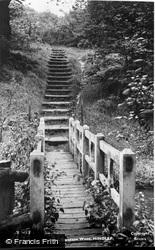 Bridge And Steps, Borsdane Wood c.1950, Hindley