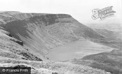 Hirwaun, Llyn Fawr Reservoir From Rhigos Pass c.1955