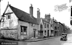 Old Houses, Tilehouse Street 1931, Hitchin