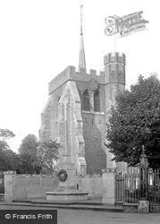 St Mary's Church And War Memorial 1931, Hitchin