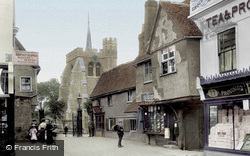 St Mary's Church From Market Place 1908, Hitchin