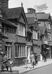 The Cock Hotel, High Street 1929, Hitchin