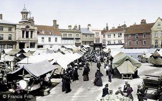 Hitchin, the Market 1901