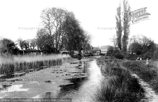 Hitchin,view at West Mill 1901,Hertfordshire