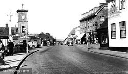 Hoddesdon, Burford Street And Clock Tower c.1950