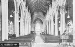 Holbeach, All Saints Parish Church, Interior c.1955
